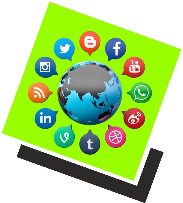Grafik über Social Media Dienste